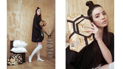 Hair /makeup : Valentina Chang / Stylist and creative director : Jane Frances / Photography : Michelle Maretha / Model : Paloma Hill / Wardrobe : Koi Girl